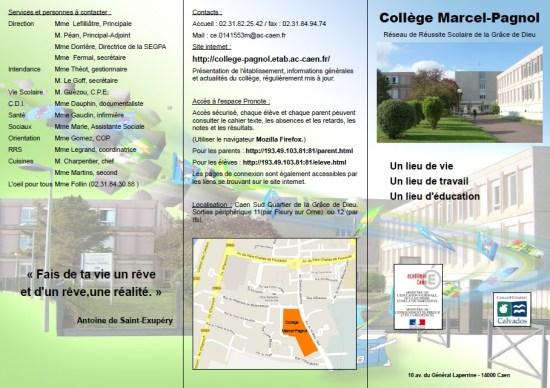 Plaquette collège Marcel Pagnol juin 2014 (1)