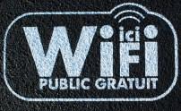 Signalétique au sol pour wifi public