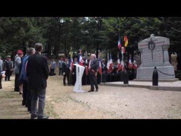 Cérémonie du souvenir à Fleury devant Douaumont