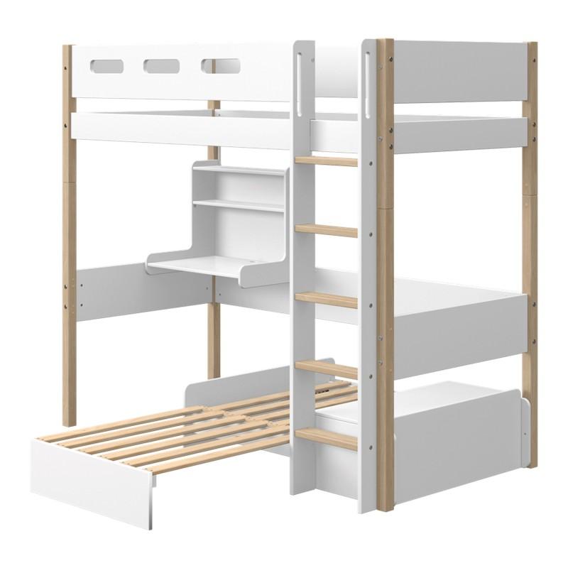 lit mezzanine evolutif avec bureau et lit sofa nor