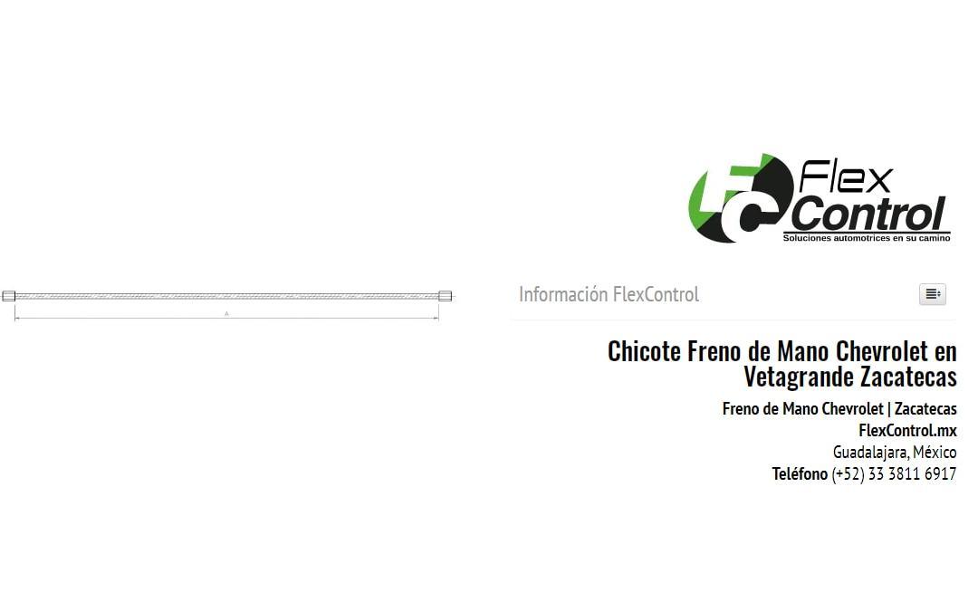 Chicote Freno de Mano Chevrolet en Vetagrande Zacatecas