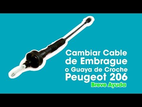 Cambiar Cable de Embrague o Guaya de Croche (clutch) Peugeot 206