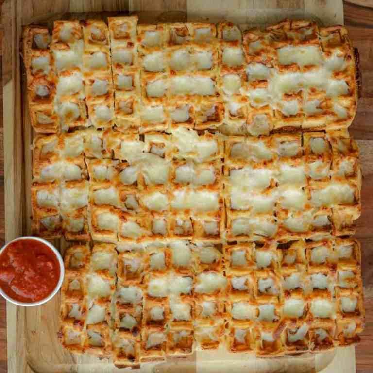 Cheesy Garlic Waffle Breadsticks