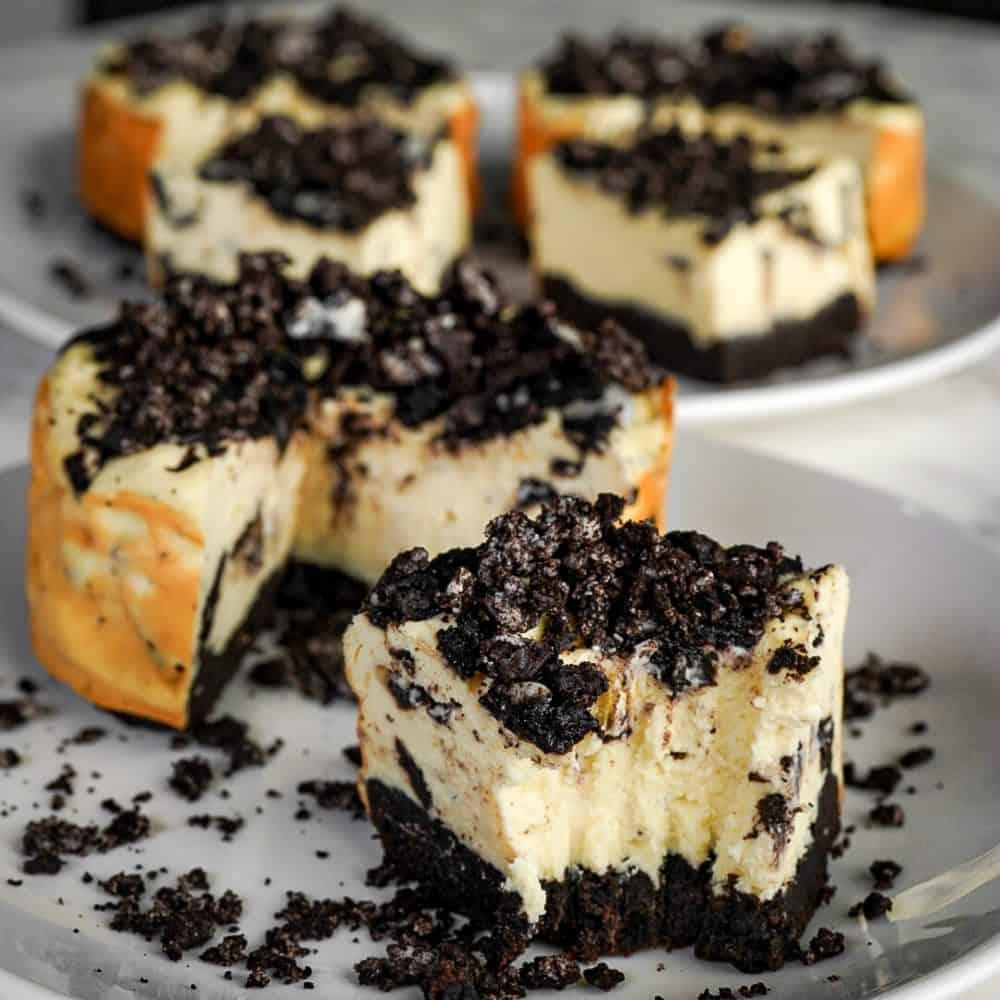 Personal Pan Protein Oreo Cheesecakes