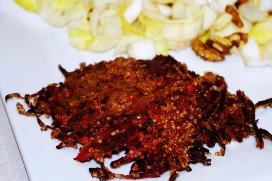 Recette des galettes de quinoa et betterave