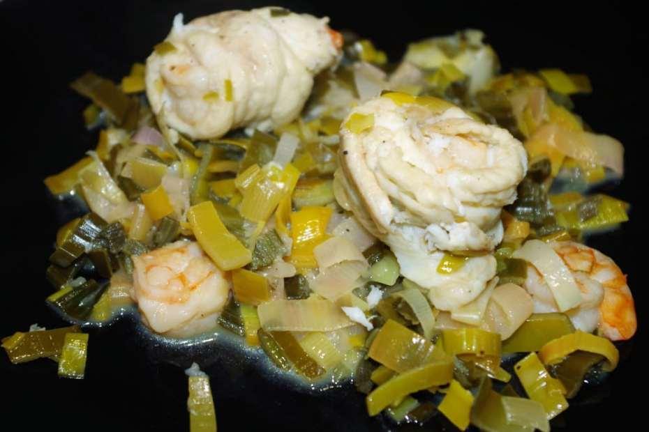Recette facile et rapide des paupiettes de sole aux crevettes