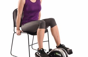 getting a compact elliptical workout from a chair
