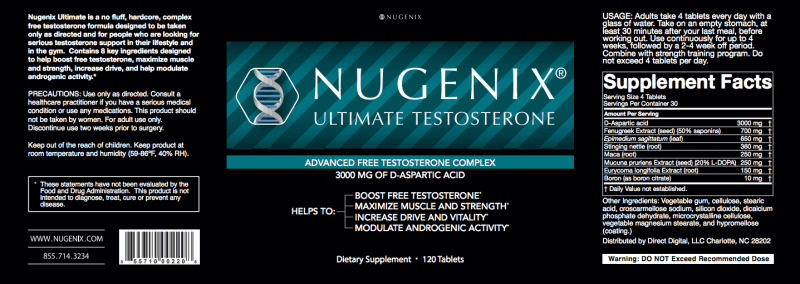nugenix ultimate supplement facts label