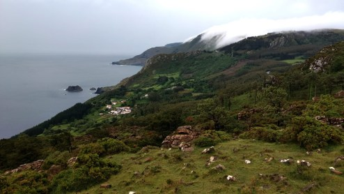 Cloud covering Galician coast