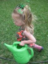 little gardener watering
