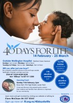 40 Days for Life 2018 and Opening Event Wellington