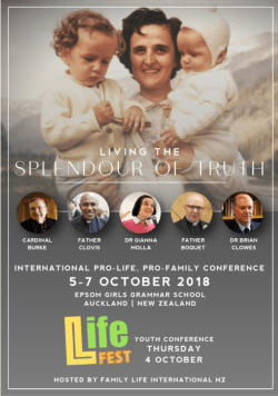 Living the Splendour of Truth Prolife Conference 2018 Brochure Cover