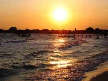 Закат солнца в районе Черноморского