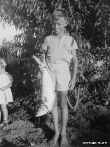 My father at 8 years old with a 8lb Aussie salmon