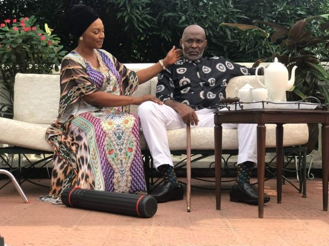 Tina Mba and RMD in a scene from God Calling