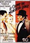 crime of monsieur lange poster