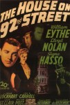 house on 92nd street poster