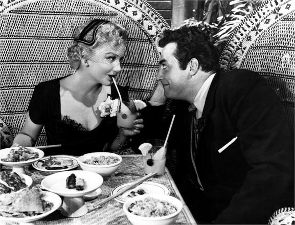 THE BLUE GARDENIA, Anne Baxter, Raymond Burr, 1953
