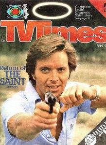Ian Ogilvy Return of the Saint Simon Templar TV Times points gun