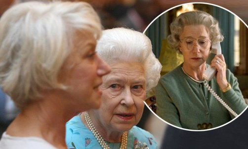 Queen Elizabeth II meets Dame Helen Mirren at a reception to celebrate young people in the performing arts, at Buckingham Palace, in central London. PRESS ASSOCIATION Photo. Picture date: Monday May 9, 2011. Photo credit should read: Dominic Lipinski/PA Wire