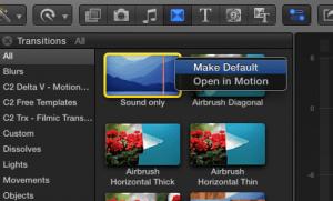 make default transition