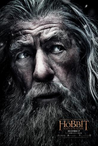 Ian McKellen as Gandalf.