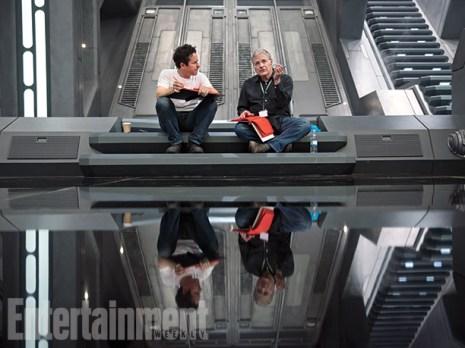 Director J.J. Abrams and co-writer Lawrence Kasdan