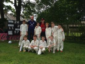 Chris and the winning Littletown CC team