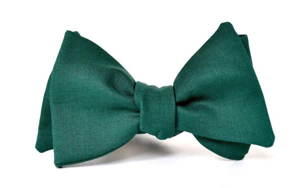 Querbinder Klassiker grün
