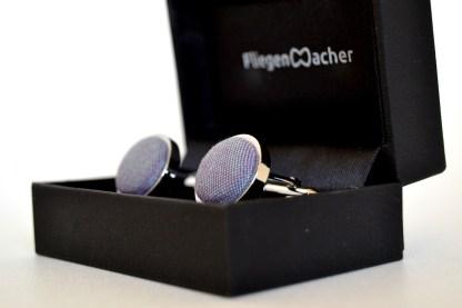 Manschettenknöpfe violett schimmernd