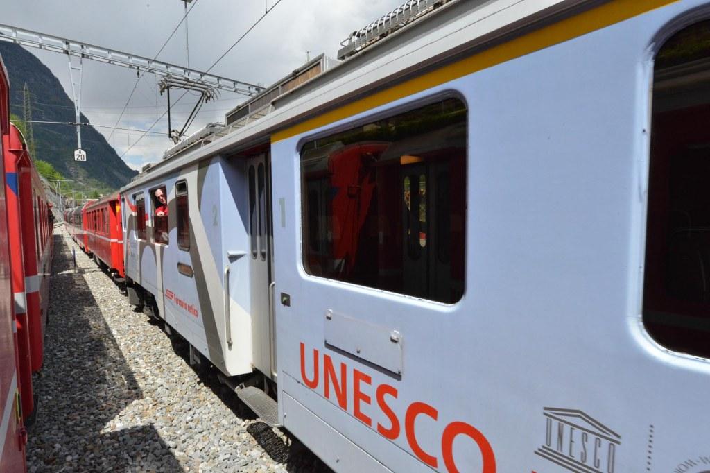 Bernina Express Train Unesco world Heritage Site