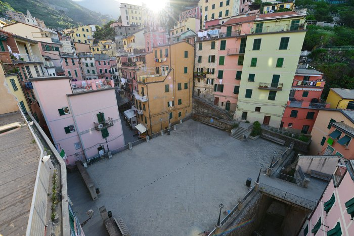 cinque terre, Italy, quiet morning, empty square