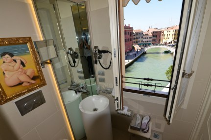 Hotel Moresco view from bathroom Venice Italy