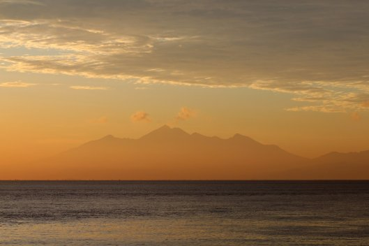 View of Lombok from Amed