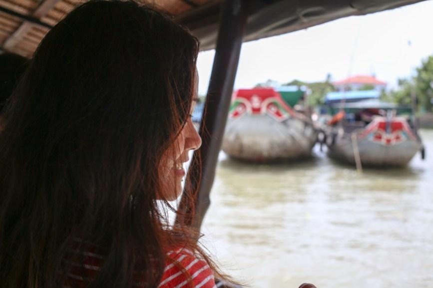 Celeste on Mekong cruise boat