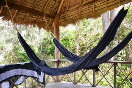 We made good use of these hammocks