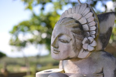 Statue at Tanah Lot