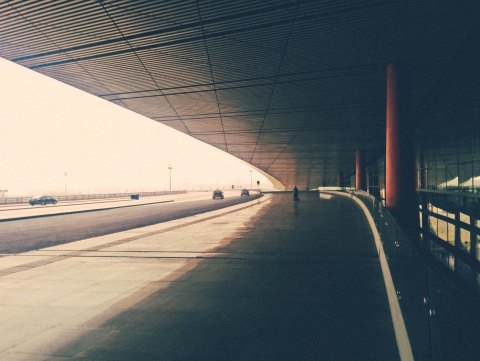 Outside Beijing International Airport