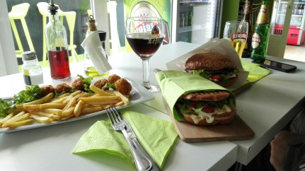 Yummmy has great sandwiches, and just down the street from us