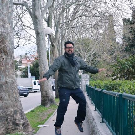 Jumping for joy in Split