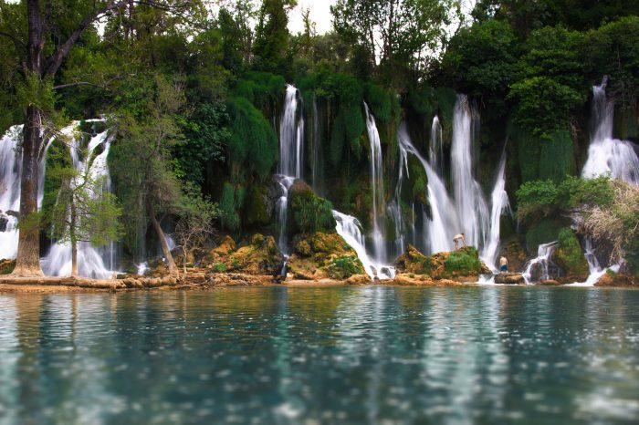 Beautiful Kravica Kravice Waterfalls Bosnia