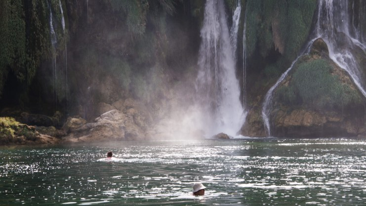 Swimming in Kravice Falls