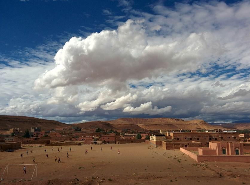 Amazing weather over Ait Ben Haddou