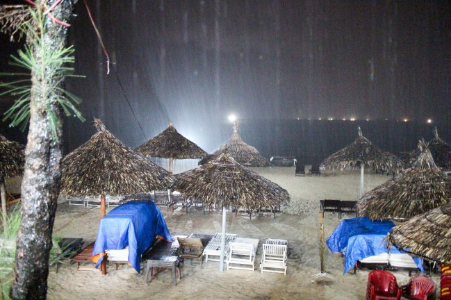 Rainy Night in Ang Bang Beach