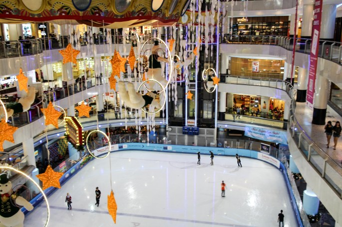 Ice Skating in a Mall
