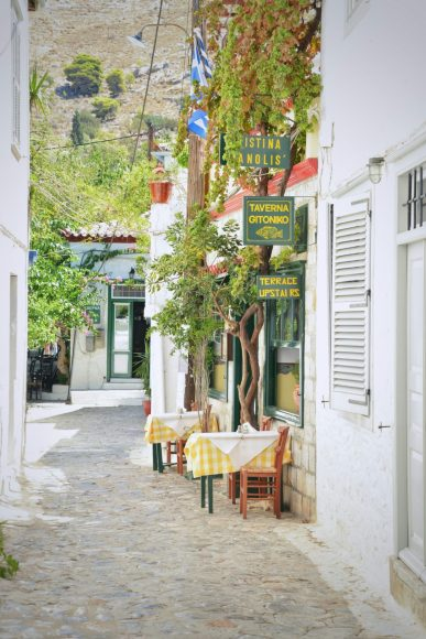 Exploring Hydra Island by foot