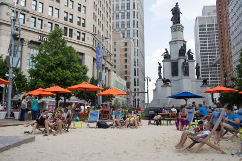 Campus Martius Beach, Image Southwest