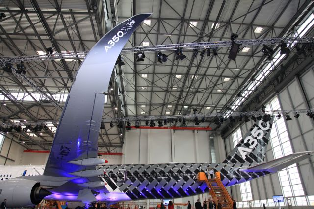 A350XWB TAIL AND WING DETAIL