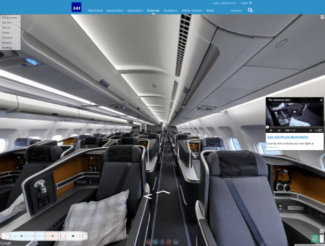 SAS Aircraft Google Street View