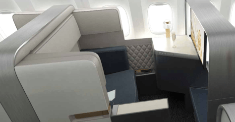 Zodiac Aerospace FUSIO Business Class Seat/Zodiac Aerospace